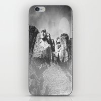 rushmore iPhone & iPod Skins featuring Rushmore at Night by Peaky40