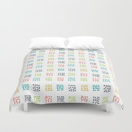 Dashing multi color squared small Duvet Cover