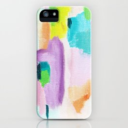Abstract in Pastel iPhone Case