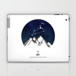 Astrology Leo Zodiac Horoscope Constellation Star Sign Watercolor Poster Wall Art Laptop & iPad Skin