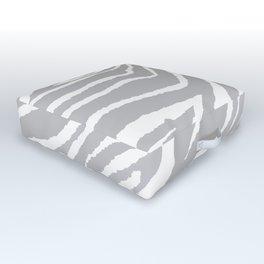 ZEBRA GRAY AND WHITE ANIMAL PRINT 2019 Outdoor Floor Cushion