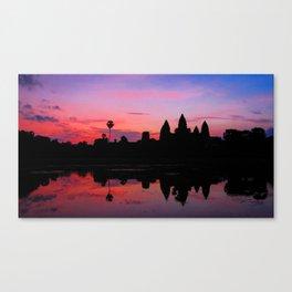 Angkor Wat Sunrise Reflection Canvas Print