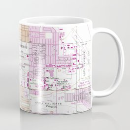 Vintage Map of Palm Springs California (1957) Coffee Mug