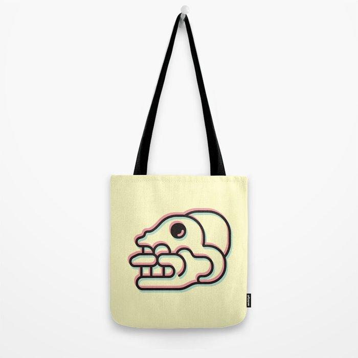Monkey Skull - Aztec Glyph Tote Bag
