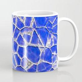 Blue broken glass texture Coffee Mug