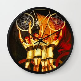 Vintage Olympique Bicycle Ad Wall Clock