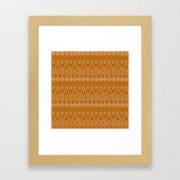 Mudcloth Style 1 in Orange Framed Art Print