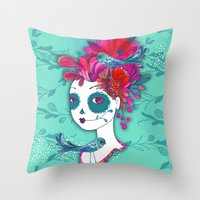 Day of The Dead Dreamer Throw Pillow