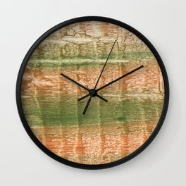Brown green blurred watercolor texture Wall Clock