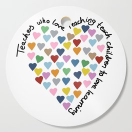 Hearts Heart Teacher Cutting Board