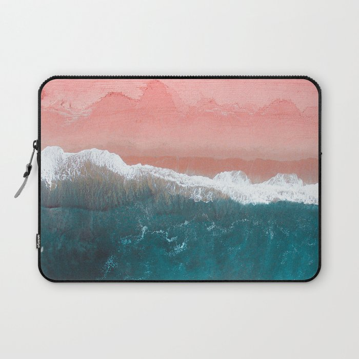 Turquoise Sea Pastel Beach II Laptop Sleeve