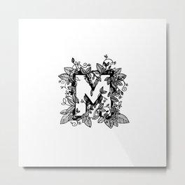 Leafy M Metal Print
