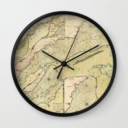 Map of the Saint Lawrence River (1771) Wall Clock
