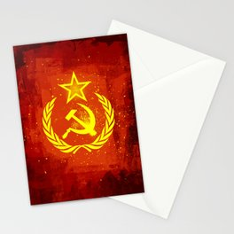 Paint Communist Hammer & Sickle Stationery Cards