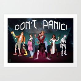 Don't Panic! Art Print