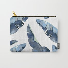 Banana Leaves 2 Blue Carry-All Pouch