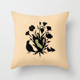 California - State Papercut Print Throw Pillow