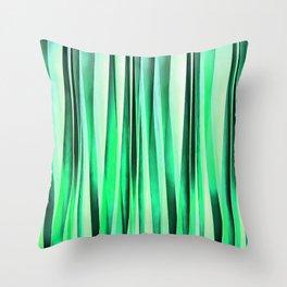 Turquoise Serenity Stripy Pattern Throw Pillow