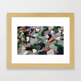 Sea Glass Assortment 6 Framed Art Print