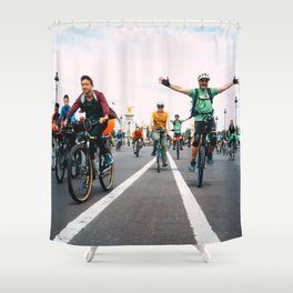 Paris France by Fred Pixlab Shower Curtain
