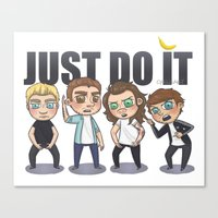 cyrilliart Canvas Prints featuring Just 1Do It by Cyrilliart