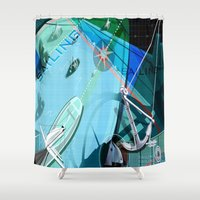 sailing Shower Curtains featuring Sailing by Robin Curtiss