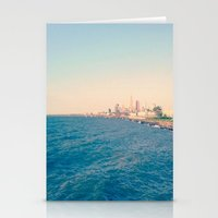 cleveland Stationery Cards featuring Cleveland Skyline  by Julia Blanchette