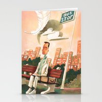 forrest gump Stationery Cards featuring Forrest Gump Tribute by Daniela Volpari
