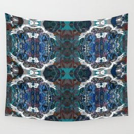Bird Motif Abstract Aboriginal Pattern Wall Tapestry