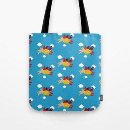 Lucha Libre Pug Tote Bag