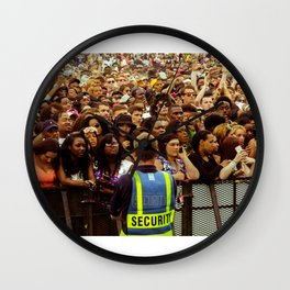Concert Crowd Wall Clock