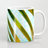 palm Mugs featuring Palm by Stephanie Stonato