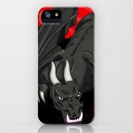 Darrell Merrill Nerd Artist: Black Dragon iPhone Case