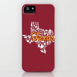 Schreiner Texas Landmark State - Maroon and Gold Schreiner University Theme iPhone Case