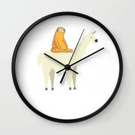 Adorable Sloth & Llama Friends Wall Clock
