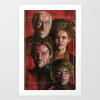 lannister Art Prints featuring House Lannister by Danika