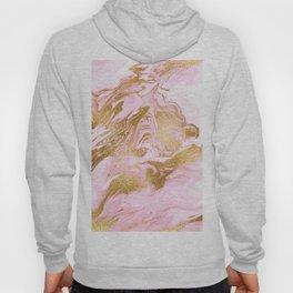 Rose Gold Mermaid Marble Hoody