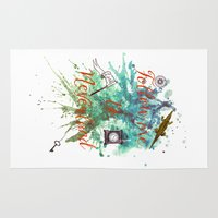 neverland Area & Throw Rugs featuring Follow me to Neverland by Sybille Sterk