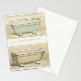 Vintage  of imperial porcelain baths published in 1888 by JL Mott Iron Works Stationery Cards