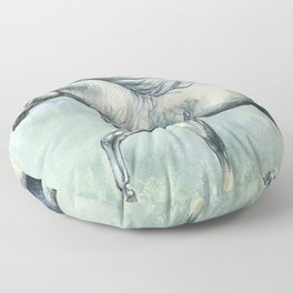 Running arabian horse Floor Pillow