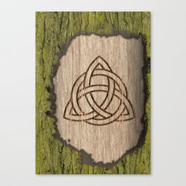 Triquetra carved Canvas Print
