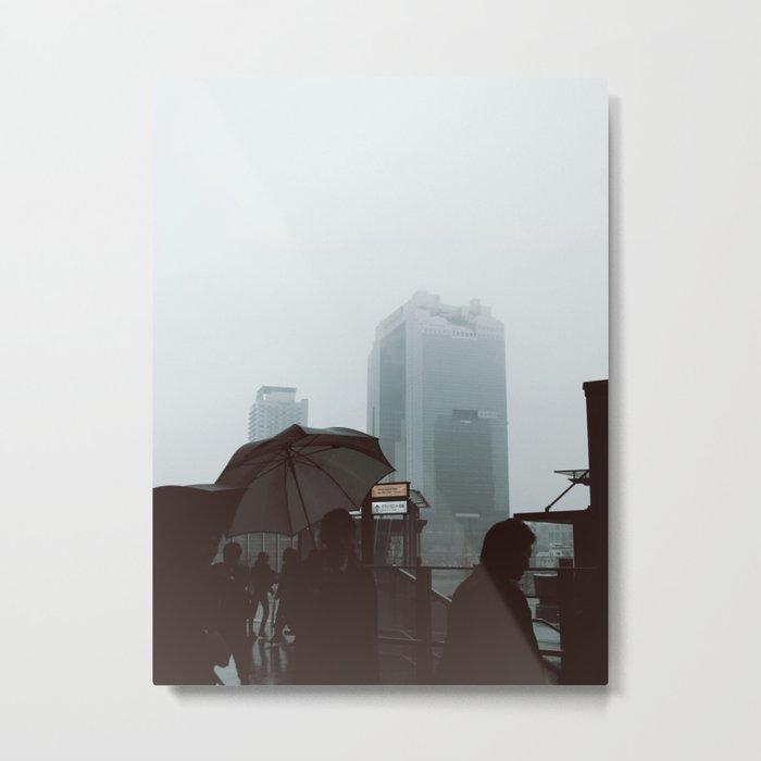 Umeda Mist Metal Print