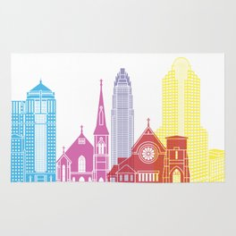 Charlotte skyline pop Rug