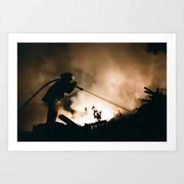 Into The Smoke Art Print