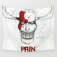 """pain Wall Tapestries featuring """"Pain"""" by Pastuv"""