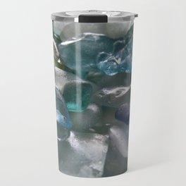 Ocean Hue Sea Glass Assortment Travel Mug