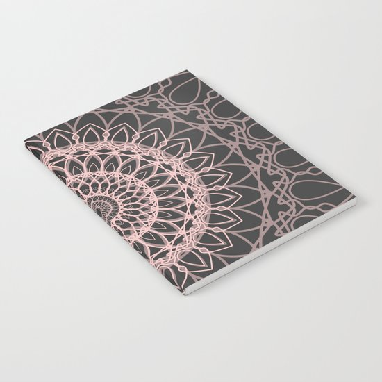 mandala rose quartz color of the year Notebook