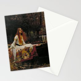 The Lady of Shalott by John William Waterhouse Stationery Cards