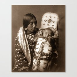 Apsaroke Mother and Child - Curtis - 1908 Canvas Print