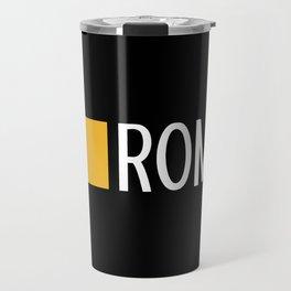 Italy: Roman Flag & Roma Travel Mug